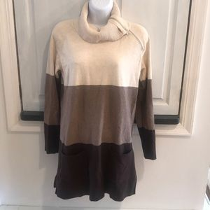 Jeanne Pierre Long Turtleneck with Front Pockets